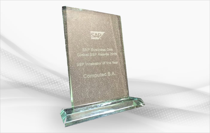 2015 – SAP Business One – Global SSP Awards 2015 – SSP Innovator of the Year w tekście