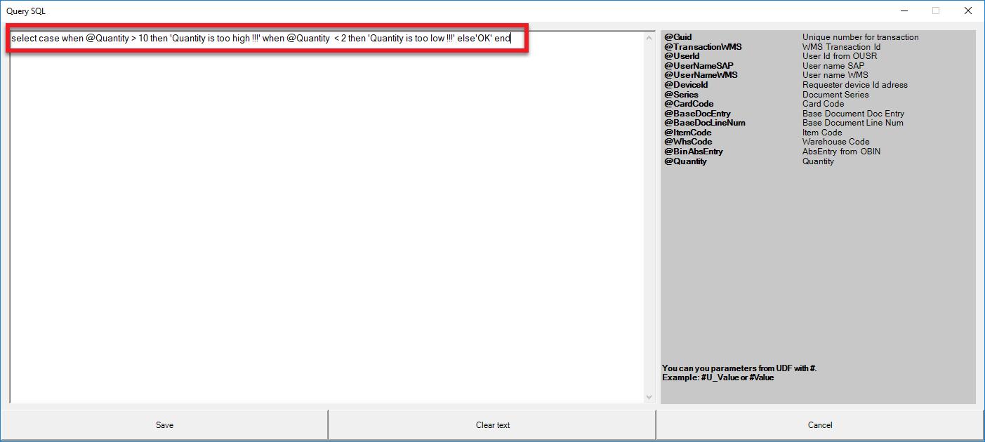 Computec WMS SQL Query