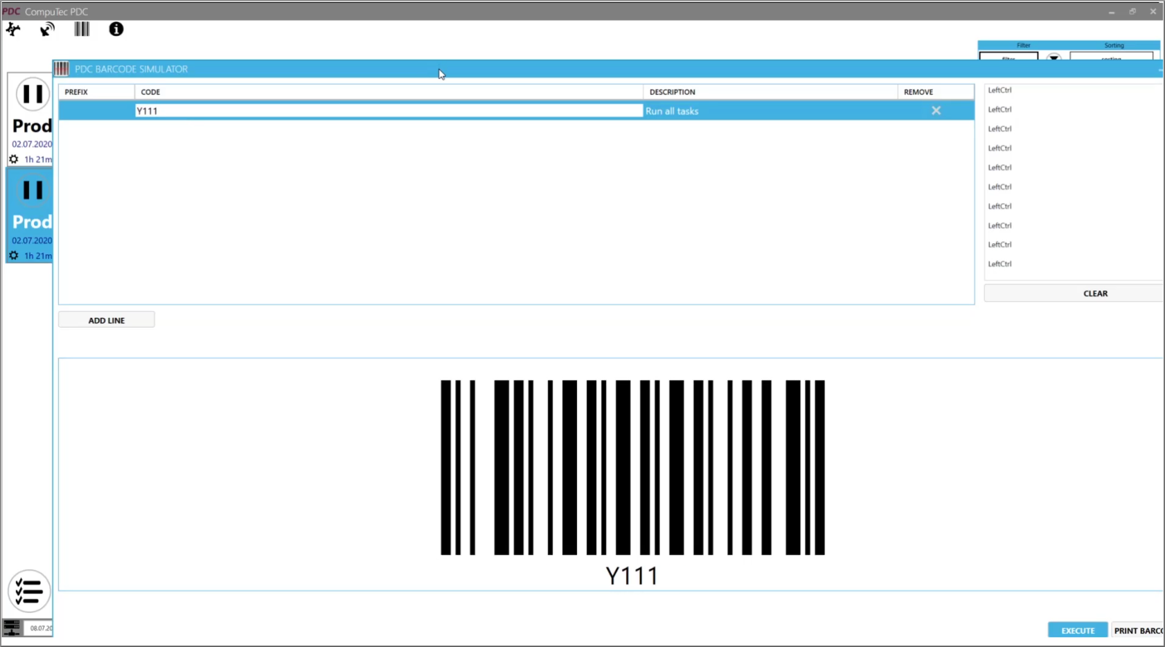 CompuTec PDC Barcode Scanner Simulator